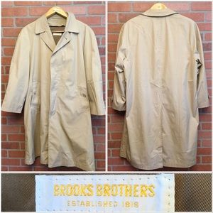 Brooks Brothers Mens trench coat 40S zip out liner